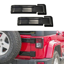 Black Rear Door Tailgate Hinge Cover Trim Decor fit for 2007-18 Jeep Wrangler JK