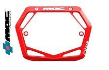 Mac One BMX Number Plate Mini/Cruiser Red