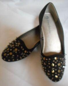Emerson size 6 black shoes flats suede