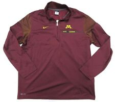 Nwt Nike Dri-Fit Ncaa Minnesota Golden Gophers 1/4 Zip Jacket Men's Size Large