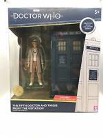 Dr Who 5th Doctor & Tardis The Visitation Collector Figure Set Davison B&M NEW