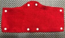 6 Pack - Hard Hat Accessories Looped Terry Cloth Sweat Band For Hard Hats Red
