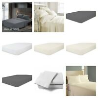 "16"" Extra Deep Pocket Ultra Soft fitted Elastic Sheet Corner Strap 100% Cotton"