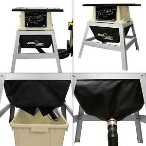 table saw dust cutter dust collection system