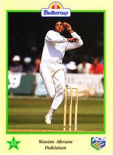 BUTTERCUP 1995 WASIM AKRAM Ball PAKISTAN, ACB Australian Cricket Card