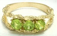 GENUINE 0.90 carats PERIDOT RING 10k YELLOW GOLD* Free Shipping & appraisal*