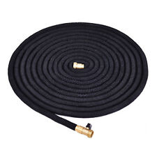 100FT Expanding Flexible Water Hose Pipe Home Garden Hose Watering Black New