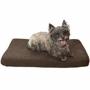 Furhaven Pet Dog Bed - Cooling Gel Memory Foam Mat Quilted Suede Traditional ...