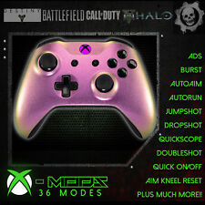 XBOX ONE RAPID FIRE CONTROLLER -BEST MOD ON EBAY! Pearl Purple/Green- Pink LED