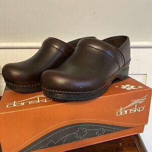 Dansko Women's 39 Pro XP Pull Up Espresso Brown Slip Resistant Shoes