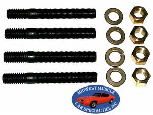 "GM Chevy Pontiac Olds 3/8"" Engine Exhaust Intake Manifold Head Stud Bolt 4pcs K"