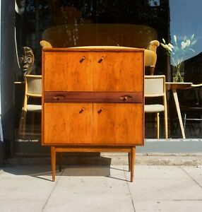 A vintage 1960s Robert Heritage 'Hamilton' Rosewood cocktail cabinet