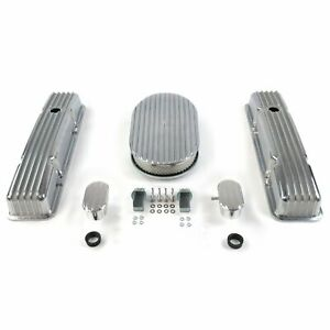 SBC 15 Full Oval/Short Finned Engine Dress Up kitw/ Breathers (PCV) VPA7AC55