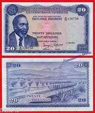 KENIA KENYA 20 shillings 1973  Pick  8 d   SC / UNC