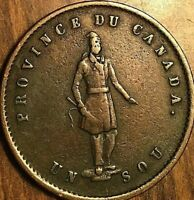1852 LOWER CANADA UN SOU QUEBEC BANK HALF PENNY TOKEN