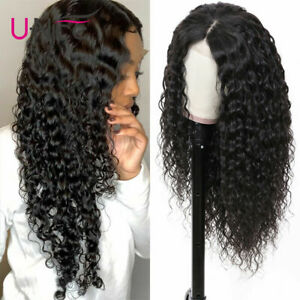 Glueless 13x4 Lace Front Wigs Water Wave 150% Density Pre plucked Cambodian Hair