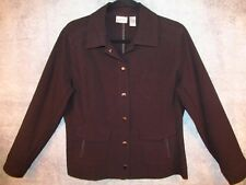 """Chico's Black Snap Shirt Jacket 1 S Sm Chest Zip Pockets Artsy Funky 41"""" Bust"""