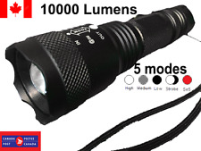 10000 Lumens 5 Modes Zoomable LED 18650 pocket micro mini torch with clip