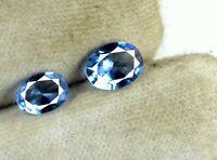 2.30 Ct Natural Blue Tanzanite Gemstone Pair 9 x 6 mm Oval Cut AGSL Certified