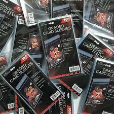 🍀Bustina GRADED CARD SLEEVES Ultra PRO x100 trasparenti PSA Beckett GRAAD🍀
