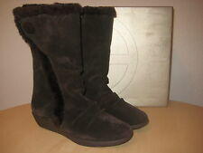 Giani Bernini Shoes Size 7 M Womens New Sicilia Brown Suede Fashion Wedge Boots
