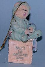 Boyds Bears ornament Binkie, #257017, Nib 2003 Christmas, baby's first Christmas
