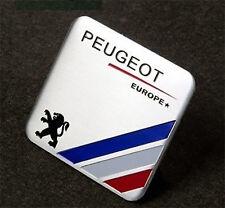 Peugeot Europe Aluminium Emblem Badge Sticker Decal 6 x 5.5cm