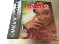 That's So Raven 2: Supernatural Style (Nintendo Game Boy Advance, 2005) GBA NEW!