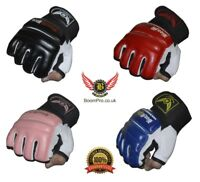 Gel Gloves Boom Pro Leather Body Combat MMA Boxing Punch Bag Martial Arts Karate
