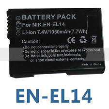 Decoded Battery for Nikon EN-EL14 ENEL4 CoolPix P7000 P7100 D3100 D3200 D5100