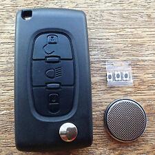 Citroen Dispatch Grand Picasso 3 Button Flip Key Fob Case Repair Kit C4lsng