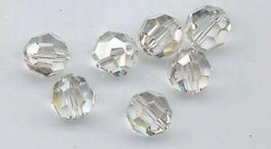 12 pcs Swarovski CRYSTAL SILVER SHADE 10mm 5000 Round Crystal Beads USA Seller