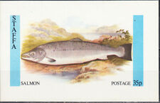 W STAFFA 039 NON POSTAL FISHES SALMON SOUVENIR SHEET