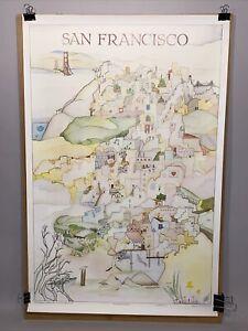 Marilyn Bereson Celestial Arts City Scenes San Francisco California Old Poster