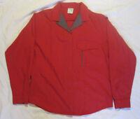 Men's Red Wrangler Western Wear Long Sleeve Snap Button Shirt M Medium USA Made
