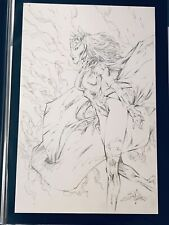 """Shelby Robertson Scarlet Witch Signed Commission Original Comic Art 11""""X17"""""""