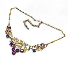 Sarah Coventry Gold & Violet Necklace