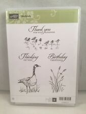 WETLANDS Stampin Up Duck Goose Sand Birds Beach Man Thank You Birthday