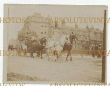OLD PHOTOGRAPH THE VANDERBILT COACH AT BRIGHTON SUSSEX VINTAGE C.1900