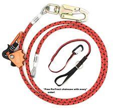 """1/2"""" x 8' Steel Core Lanyard Kit Flipline with a steel  Swivel Snap hook"""