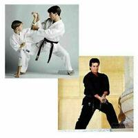 Proforce Lightweight Karate Uniform Gi White Black w/ White Belt Tae Kwon Do NEW