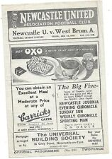 Newcastle United v West Bromwich Albion 1/1/1948 4 Page Programme