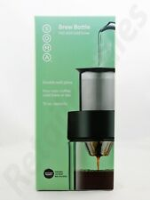 SOMA Brew Bottle Hot & Cold Brew 12 oz Capacity Double-Wall Glass