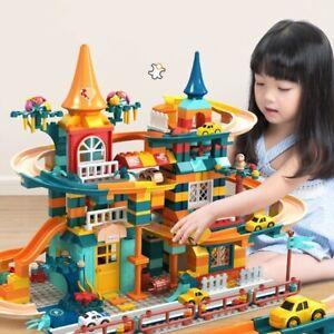 303-512pcs Race building blocks Amusement park blocks house brick toys For kids