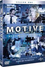 MOTIVE 1 (2013): Killer Crime Cat 'n' Mouse TV Season Drama Series - NEW  DVD UK