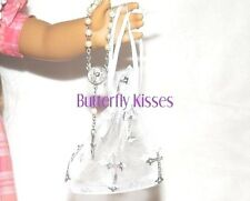Mini Rosary Beads +Cross Bag 18 in Doll Clothes Accessory Fits American Girl S