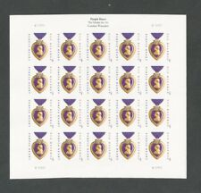 4704 4704a Purple Heart Imperf Pane No Die Cuts Mint Nh