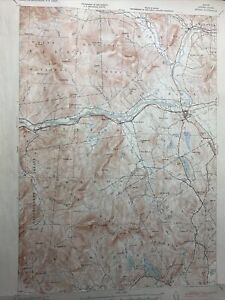 Original Vintage 1953 War Dept. Corps of Engineers Maine Oxford County Map