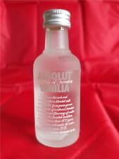 EMPTY ABSOLUT VANILIA VODKA MINI MINIATURE BOTTLE WITH CAP 50 ML  1.7 FL OZ