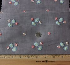 Vintage Pink Swiss (1920) Hand Loomed Tiny Scale Floral Embroidery Sample~Dolls